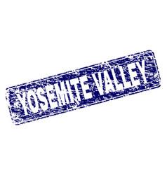 Grunge yosemite valley framed rounded rectangle vector
