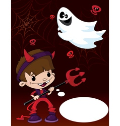 Halloween devil boy vector image