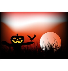 Halloween scarecrow background vector image