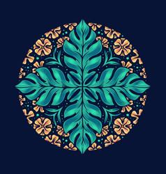 hello summer native flower pretty mandala vector image