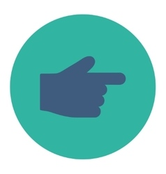 Index Finger flat cobalt and cyan colors round vector
