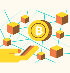investment on cryptocurrecny concept vector image