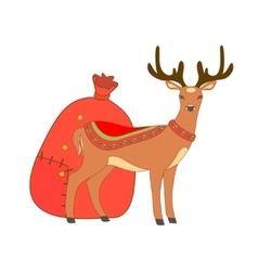 Isolated Christmas deer vector