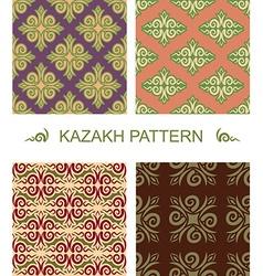 Kazakh pattern Traditional national pattern of vector image