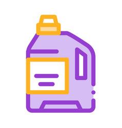 laundry service washing liquid bottle icon vector image