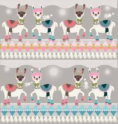 Llama pattern vector