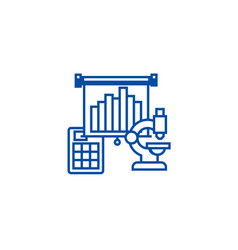 marketing researchmicroscope line icon concept vector image