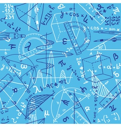 Mathematics seamless pattern vector image
