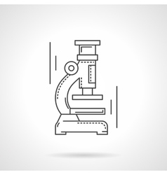 Microscope flat line design icon vector image