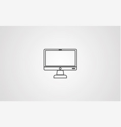monitor icon sign symbol vector image