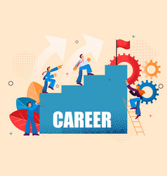 Movement up career ladder for office workers vector