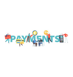 payments concept tiny characters use cash vector image