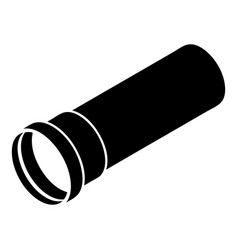 Plastic pipe icon simple style vector