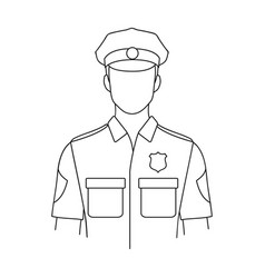 policemanprofessions single icon in outline style vector image