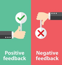 Positive and negative feedback vector