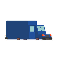 post car cartoon style mail delivery car vector image