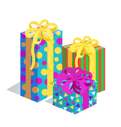 Presents bows santa factory vector