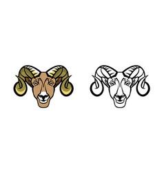 Ram school mascot vector