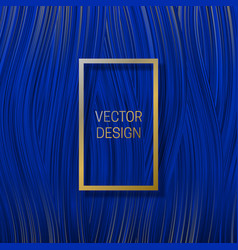 Rectangular frame on saturated blue background vector
