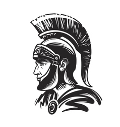 Roman centurion soldier Sketch vector