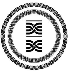seamless ornamental knot frames vector image