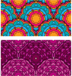 seamless patterns with round ornaments vector image vector image