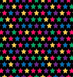 seamless stars pattern in retro color vector image