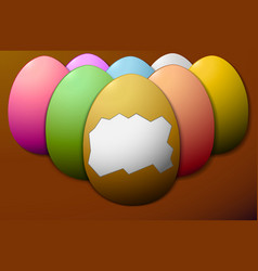 Set colorful easter eggs without the shell in the vector
