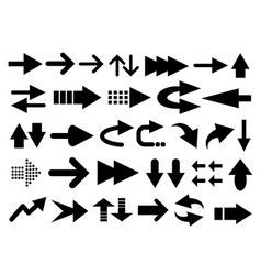 set of arrow shapes vector image