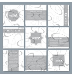 Set of square brochure template Business science vector