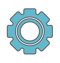setting gear social media icon vector image