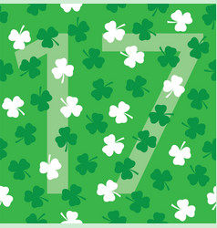 Shamrock seamless vector