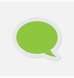 simple green icon - speech bubble vector image