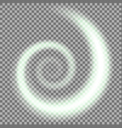 spiral of light green color vector image