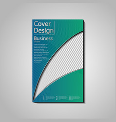 The conceptual cover template for business vector