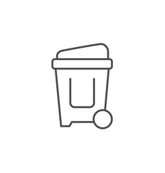 trash can line outline icon vector image