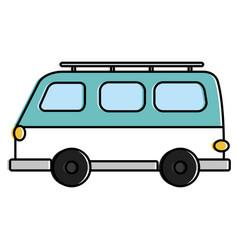 Travel van vehicle icon vector