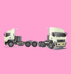 truck side root head with side vector image