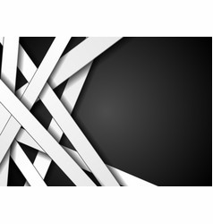 white stripes on black background design vector image