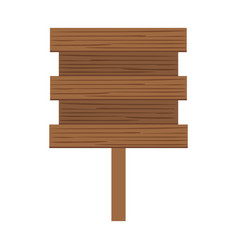 wooden banner isolated icon vector image