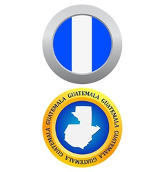 button as a symbol GUATEMALA vector image