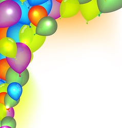 Celebration Background with Balloons vector image vector image