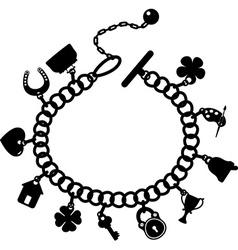 Charm bracelet vector image