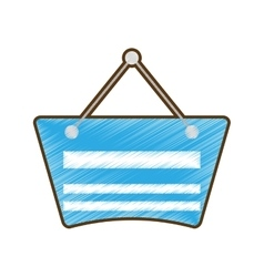 drawing blue card label hanging empty vector image vector image