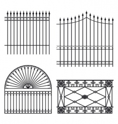 fences vector image vector image