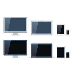 laptop tablet computer monitor and mobi vector image