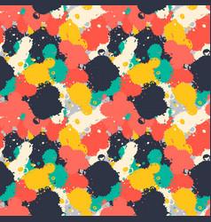 Lnk art brush splash seamless pattern grunge vector