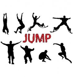 people jump vector image