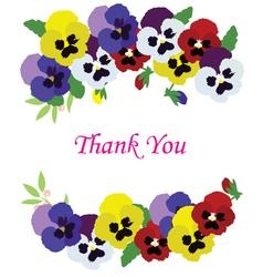 vintage floral thank vector image vector image