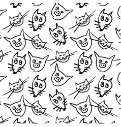 background with cartoon animals vector image